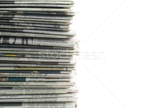 Edad periódicos superior fondo marco Foto stock © Frankljr