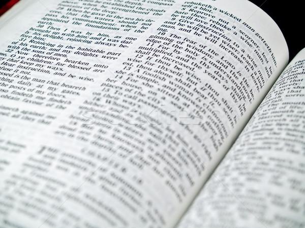 Bible livre lettre dieu mal Photo stock © Frankljr