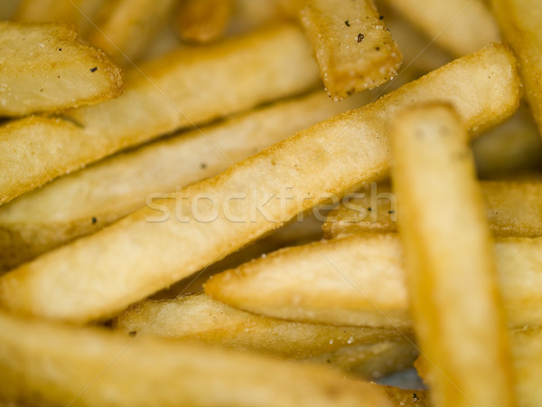 Closeup of a Serving of Seasoned French Fries Stock photo © Frankljr