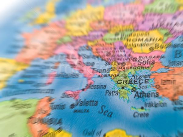Global Europa énfasis Grecia ciudad país Foto stock © Frankljr