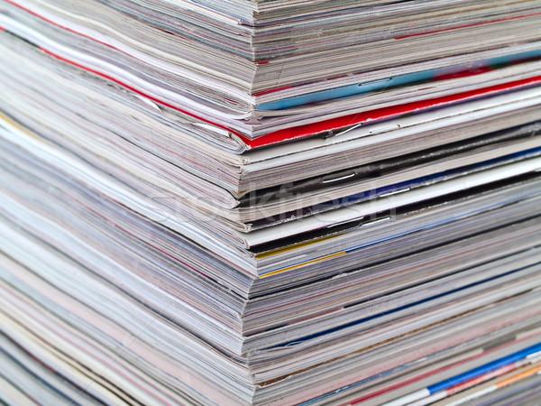 Magazine bord full frame magazines Photo stock © Frankljr