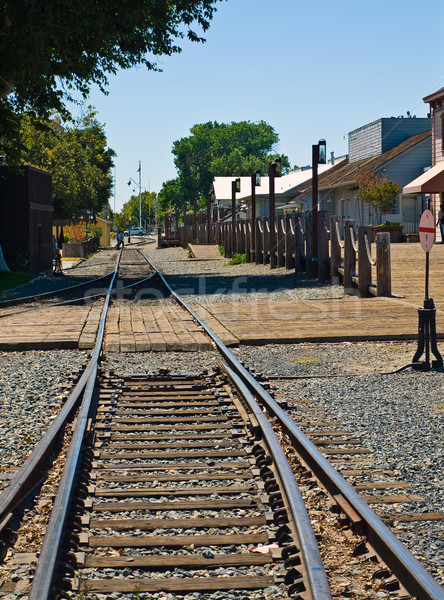 Old Railroad Tracks at a Junction Stock photo © Frankljr