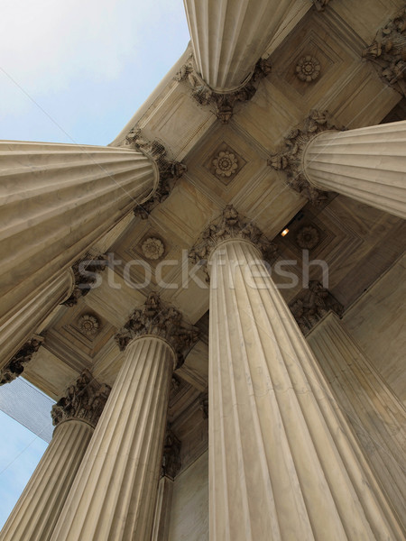 Stock photo: Columns at the United States Supreme Court