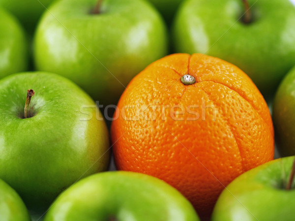 Green apples and one Orange Stock photo © Frankljr