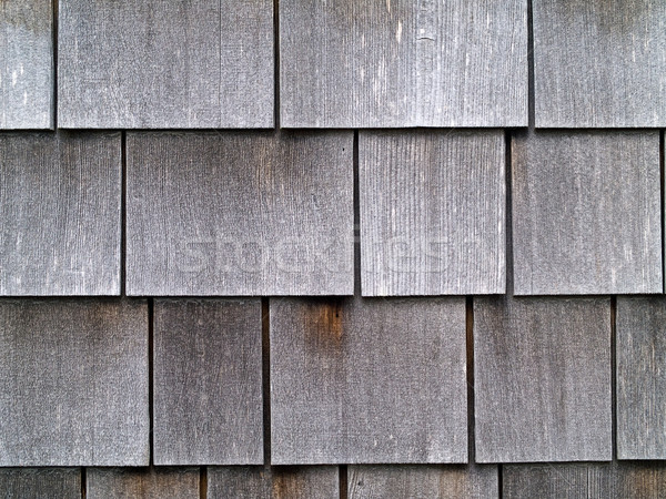 Wood Tile Wall on the Outside of a House Stock photo © Frankljr
