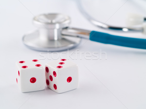 Stethoscope and Dice Stock photo © Frankljr