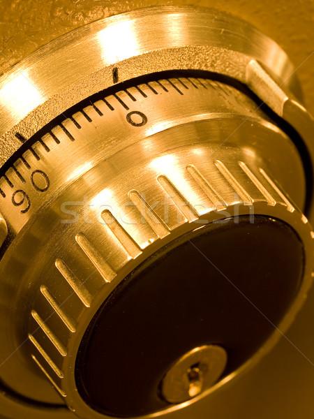 Közelkép széf agykoponya kombináció arany üzlet Stock fotó © Frankljr