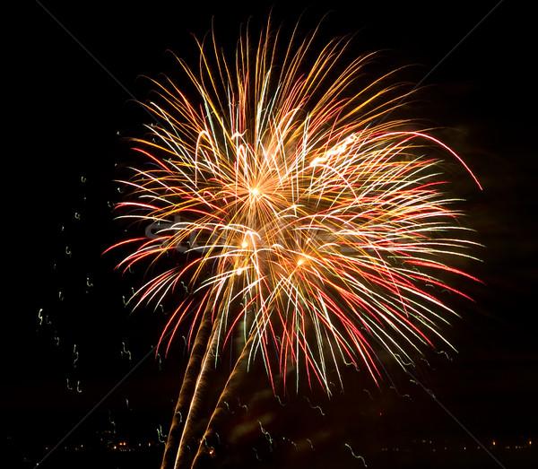 La exposición a largo fuegos artificiales negro cielo fiesta Foto stock © Frankljr