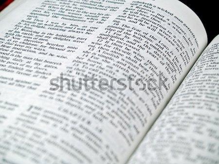 Bijbel boek bril brief god Stockfoto © Frankljr