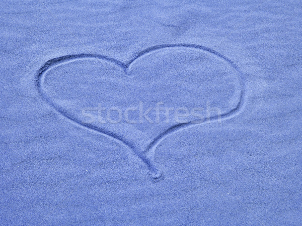 Heart in the Sand on a Sunny Day Stock photo © Frankljr