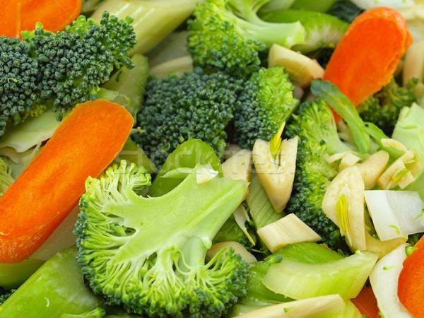 Verduras frescas picado preparación cocina alimentos naranja Foto stock © Frankljr