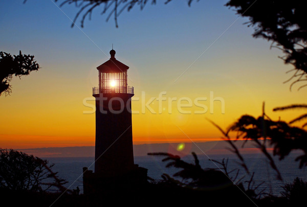Light Shining in the North Head Lighthouse Stock photo © Frankljr
