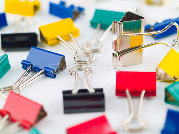 Multicolored Binder Clips Stock photo © Frankljr