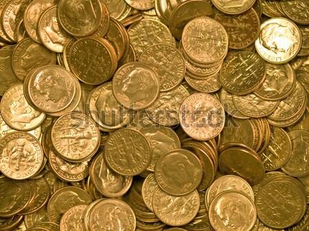 Estados Unidos moedas prata um negócio Foto stock © Frankljr