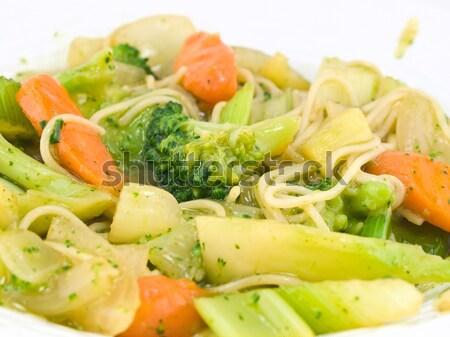 Stir Fried Vegetables and Noodles in a Light Sauce Stock photo © Frankljr