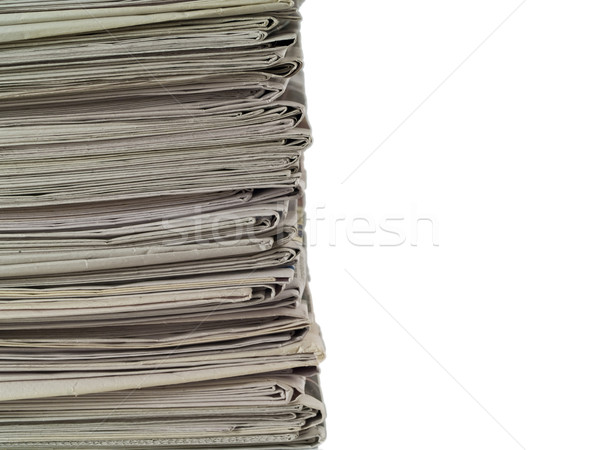 Old newspapers stacked from the top to bottom Stock photo © Frankljr