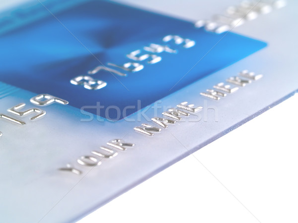 Stock photo: A closeup of a mock Credit Card with Your Name Here