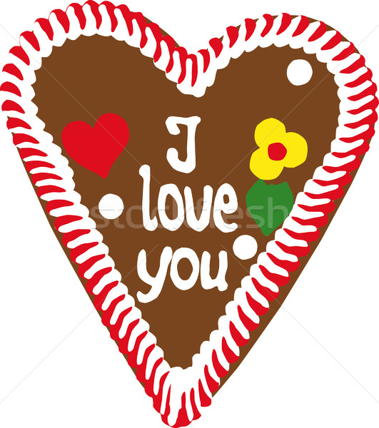 Oktoberfest Gingerbread Heart Stock photo © franky242