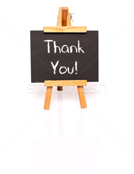 Thank You. Blackboard with text and easel. Stock photo © franky242