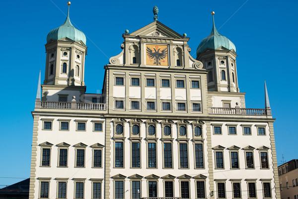 Alemanha europa casa cidade azul viajar Foto stock © franky242