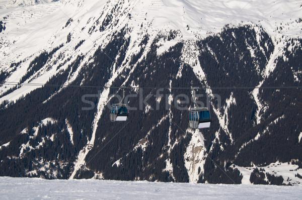 Cabo carro elevador montanhas céu paisagem Foto stock © franky242