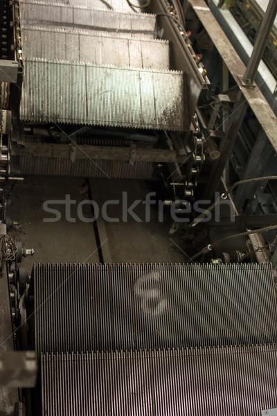 Escalator construction installation nouvelle gare Photo stock © franky242