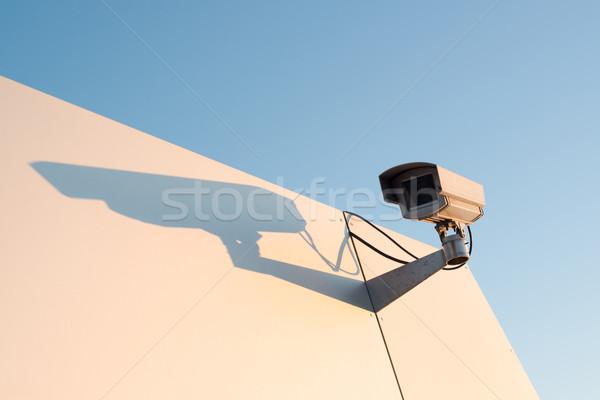 Grande irmão assistindo câmera de segurança brilhante metal Foto stock © franky242