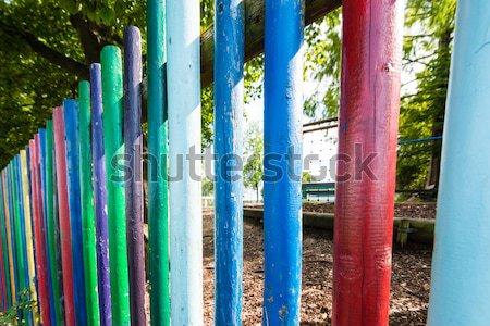 Jardim de infância cerca recreio cores parede Foto stock © franky242