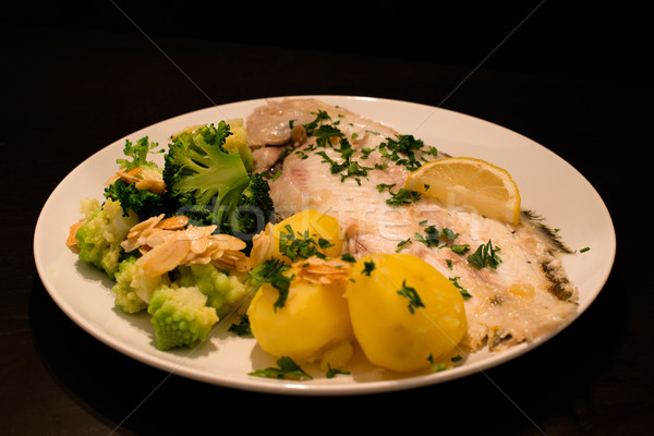 Dover sole fish dinner Stock photo © franky242