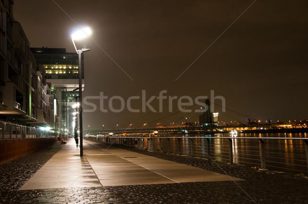 Alemanha arquitetura moderna noite céu escritório Foto stock © franky242
