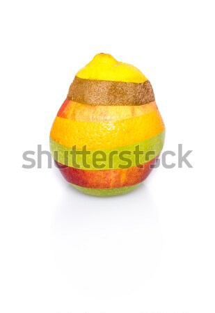 Mixed fruit on white - perfect shape, no cuts visible Stock photo © franky242