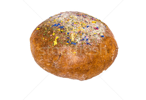 Bochenek chleba odznaczony suszy kwiaty Zdjęcia stock © franky242