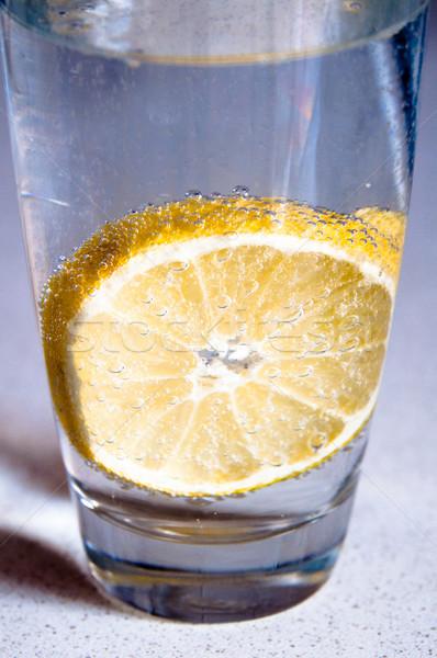 Limão água bubbles saúde Foto stock © franky242