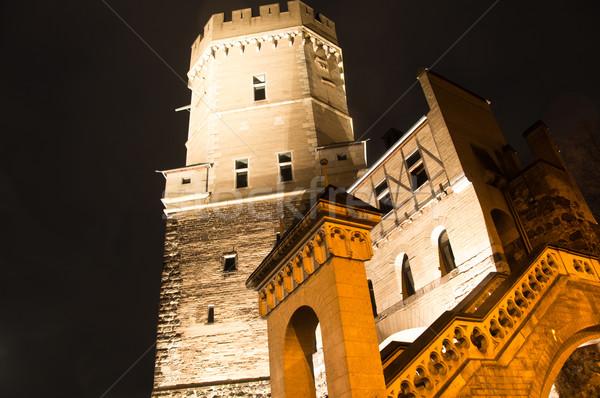 Colonia antigua Alemania noche cielo edificio Foto stock © franky242