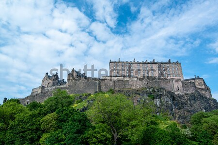 Híres Edinburgh kastély kő Skócia épület Stock fotó © franky242