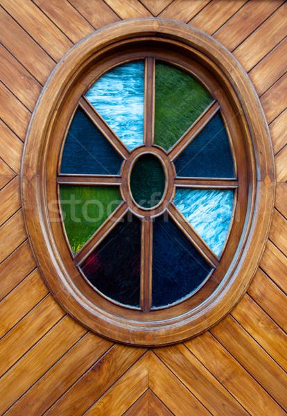 Coloré fenêtre bois porte Espagne Photo stock © franky242