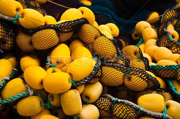 Detalhes amarelo pescador barco Foto stock © franky242