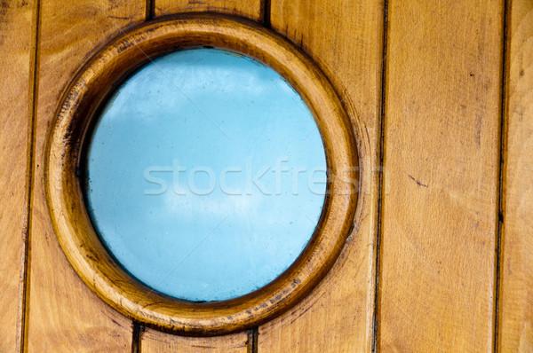 Velho navios porta blue sky Foto stock © franky242