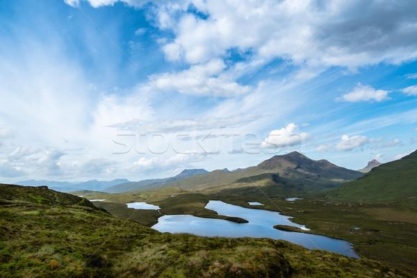 Tierras altas lejos noroeste Escocia uno paisajes Foto stock © franky242