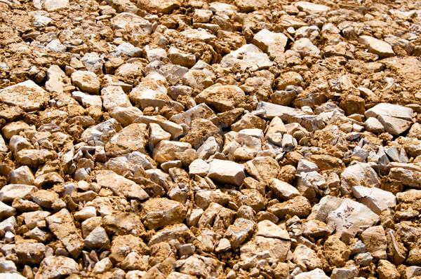 Cascalho marrom grande pedras pesado Foto stock © franky242