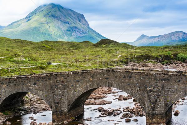 моста Шотландии холмы Великобритания природы деревья Сток-фото © franky242