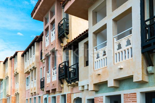 Colorido mediterrânico casas estilo edifício cidade Foto stock © franky242