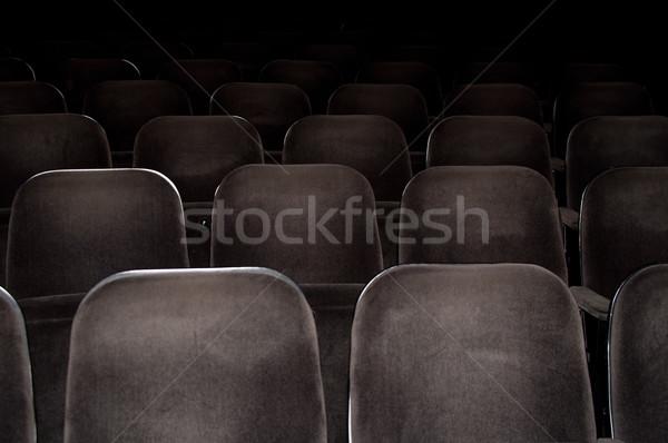 Cine sillas vacío teatro gris película Foto stock © franky242