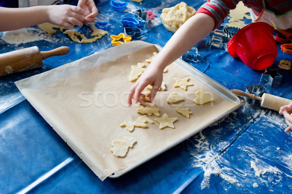 Children baking Christmas cookies Stock photo © franky242