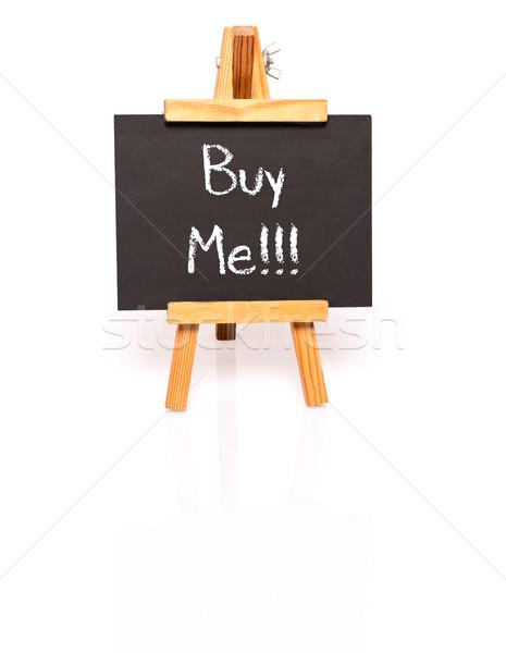 Vásárol engem iskolatábla szöveg festőállvány fotó Stock fotó © franky242