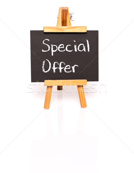 Special Offer. Blackboard with text and easel. Stock photo © franky242