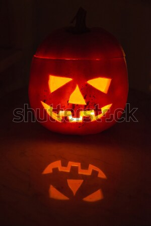 Illuminated halloween pumpkin Stock photo © franky242