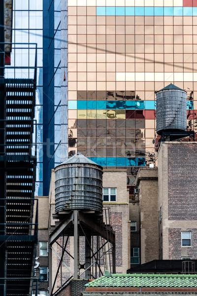 Típico Nova Iorque reflexões vidro velho Foto stock © franky242