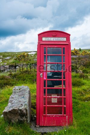 Ttraditional red telephone booth Stock photo © franky242