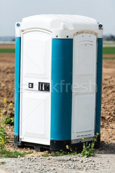 青 ポータブル トイレ 携帯 建設現場 水 ストックフォト © franky242